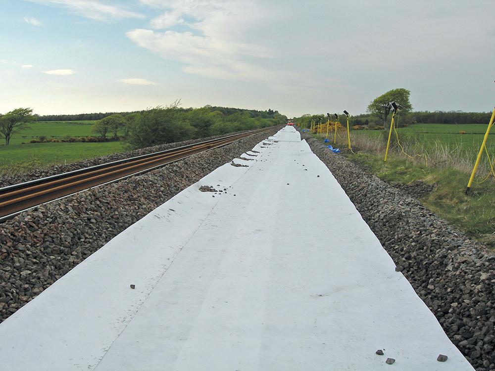 Геотекстиль для строительства железных дорог
