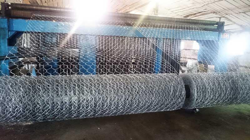 Габионная сетка двойного кручения, производство