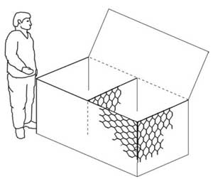 Собранный коробчатый габион
