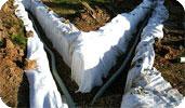 Укладка дренажной трубы