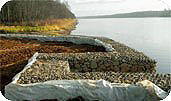 укрепление берега габионными конструкциями