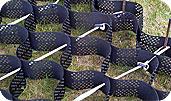 Георешетка Меапласт – это объемная конструкция в виде сотовой основы, которая отличается довольно большой прочностью