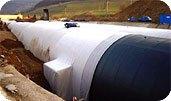 геотекстиль Текспол для изоляции трубопроводов