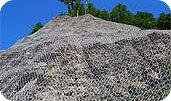 Армирование горных откосов и склонов кольчужной сеткой