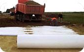 Геотекстиль для строительства временных грунтовых дорог