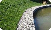 Фиксация склонов и насыпей габионами