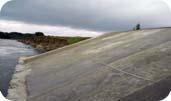 откос из бетона мост на р.Уруп